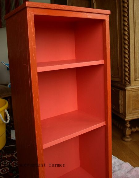 Toy cabinet pink interior
