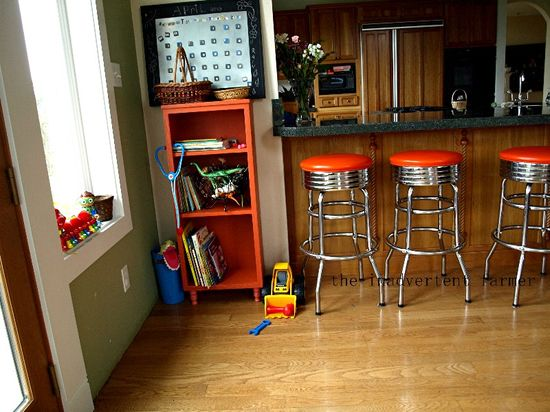 Toy cabinet antique stools