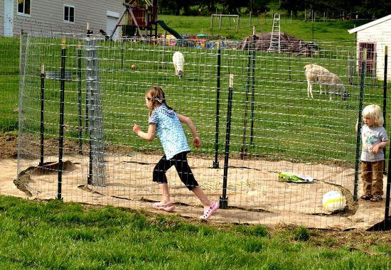 Maze garden frame run