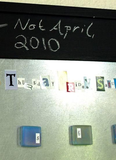 Calenadar not april