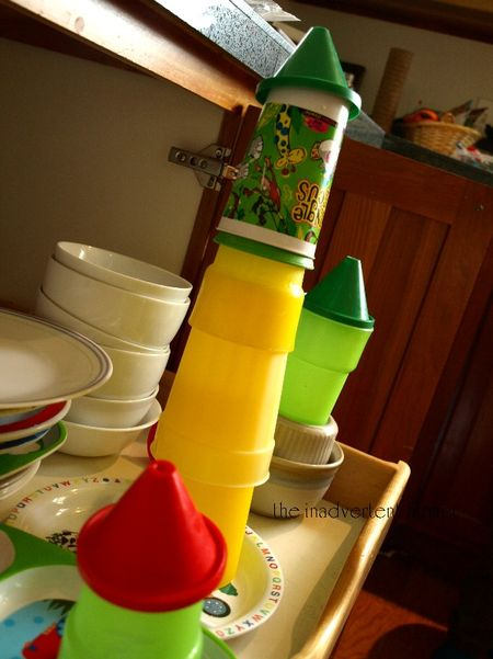 Dishwasher rocket towers