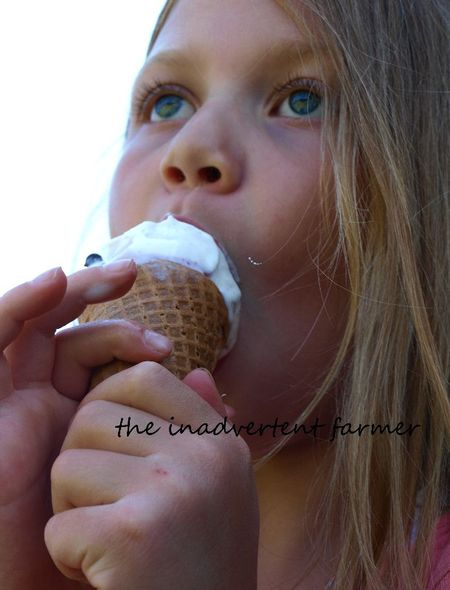 Ice cream cone girl vanilla