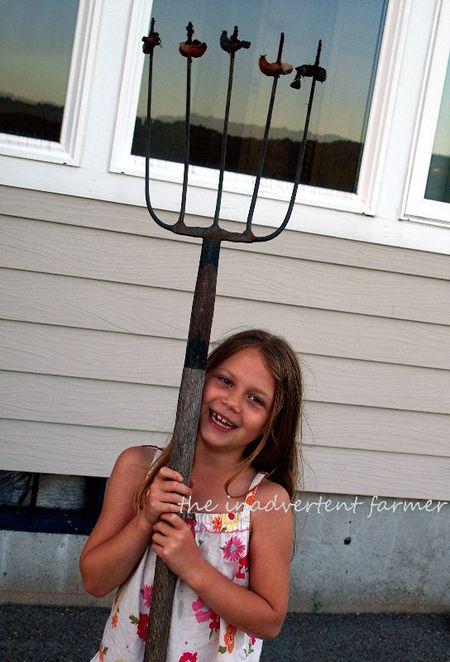 Slug girl pitchfork kill