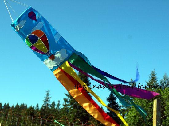 Rainbow flag balloon maze