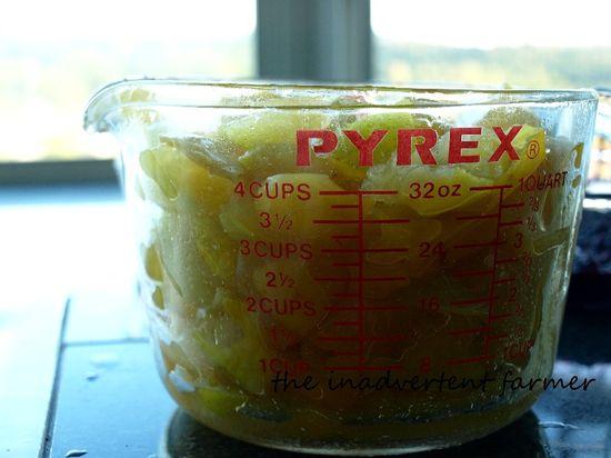 Plum berry jam yellow measure