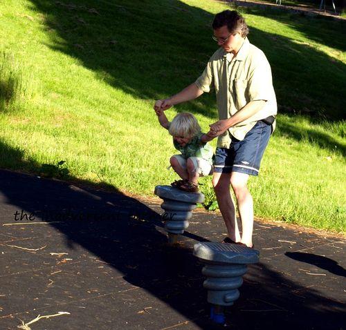 Playground hop dad