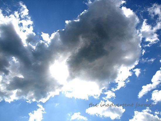 Cloud blue sky large backlit