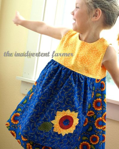 Sunflower dress inadvertent