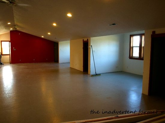 Red wall remodel no floor
