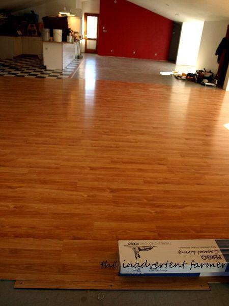 Pergo flooring started