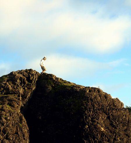 Man walk on rock