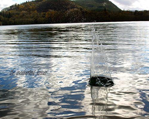 Splash lake rock