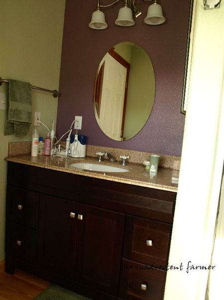 Apartment bathroom vanity