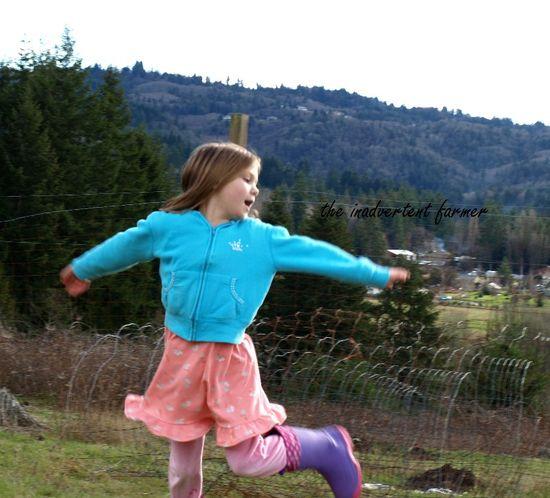 Garden girl dance