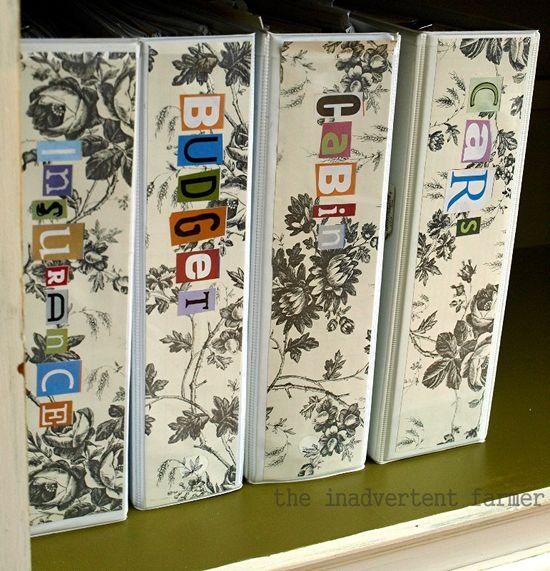 Credenza binders paper stickers