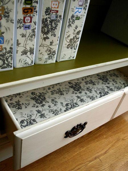 Credenza drawer folders paper