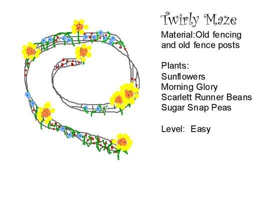 Twirly maze