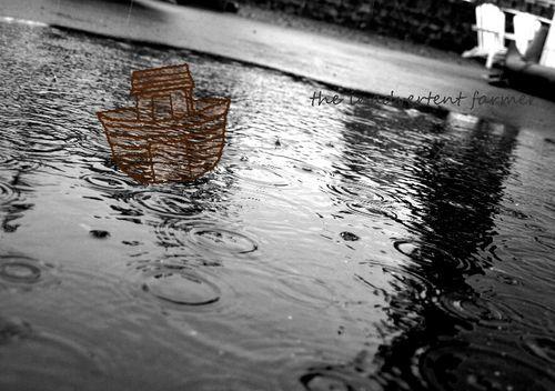 Rain ark driveway black white