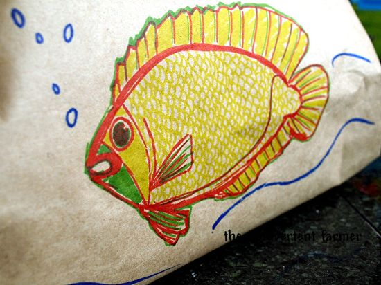 Birthday fish sketch