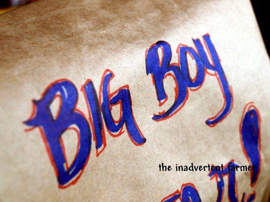 Birthday big boy wrapping