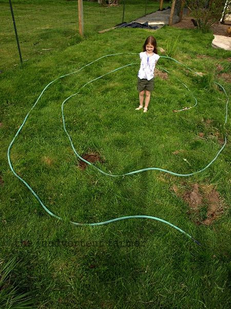 Maze layout hose garden