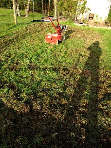 Maze rototiller garden
