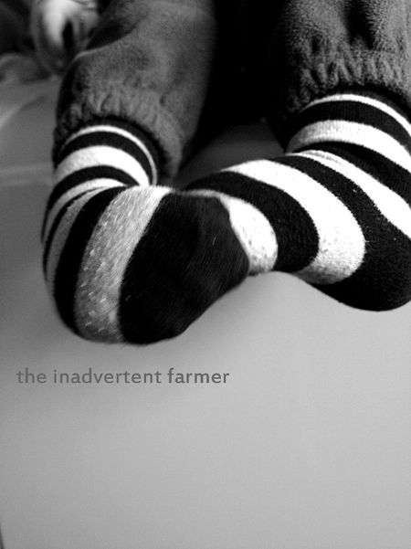 Feet socks striped boy