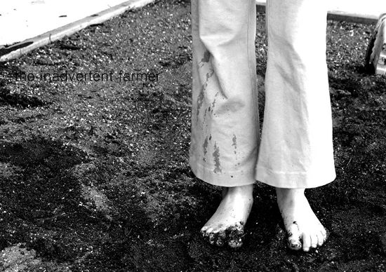 Feet black white girl sandy