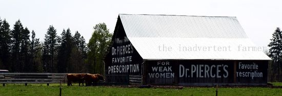 Barn advertising prescription weak woman