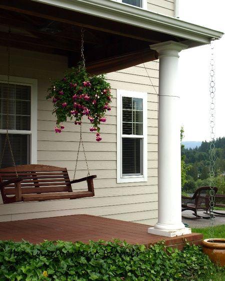 Fuchsia front porch