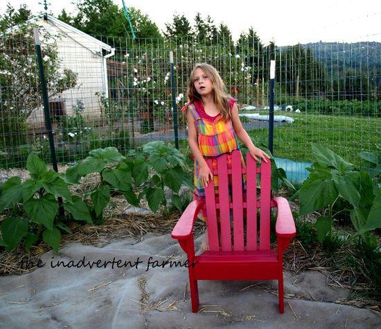 Red chair sunflower garden maze