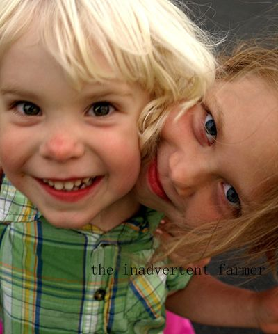 Brother sister love hug