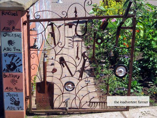 Garden gate tools