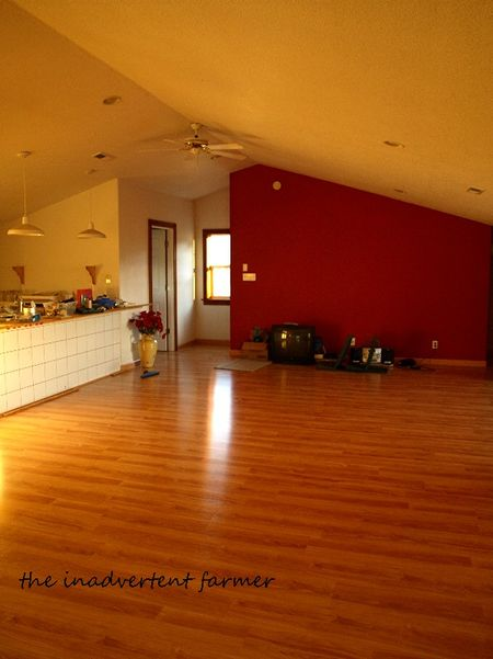 Flooring red wall