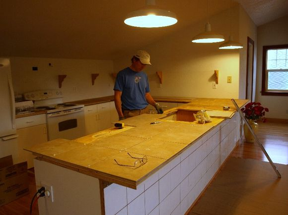 Tiling countertops kitchen