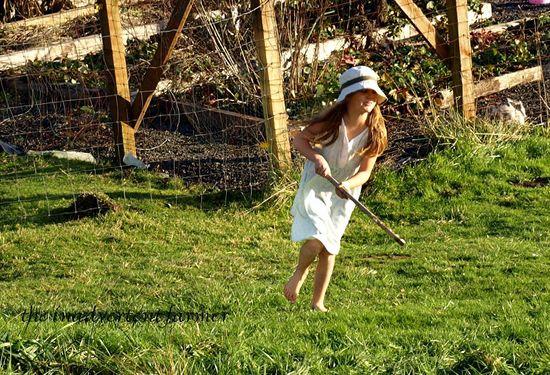 Girl stick dance