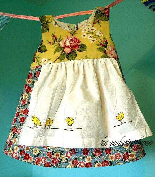 Apron chicken dress