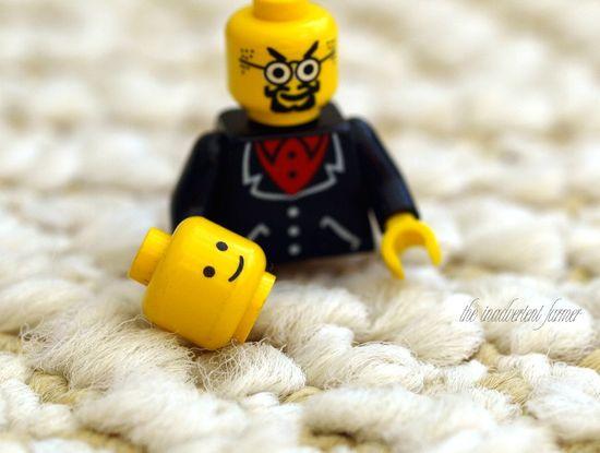 Lego man head