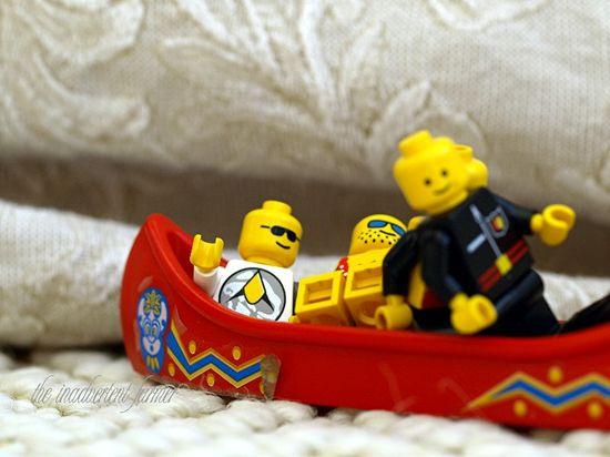 Lego canoe ride