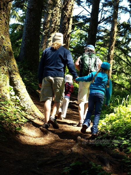 Ecola oregon hike family