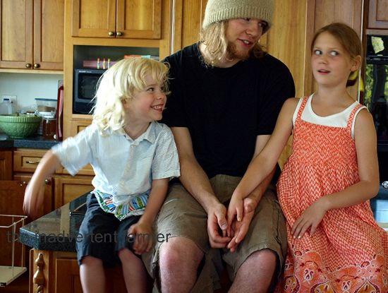 Kids conversation kitchen