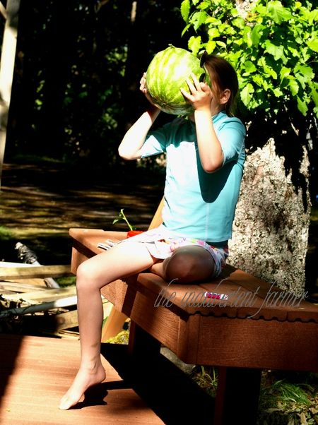 Girl eating watermelon1
