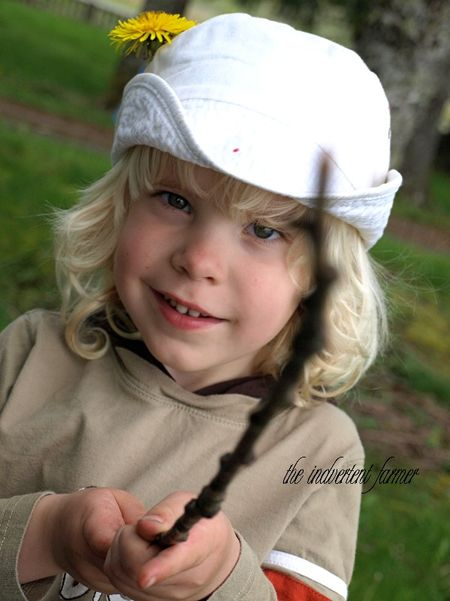 Boy hat stick pirate