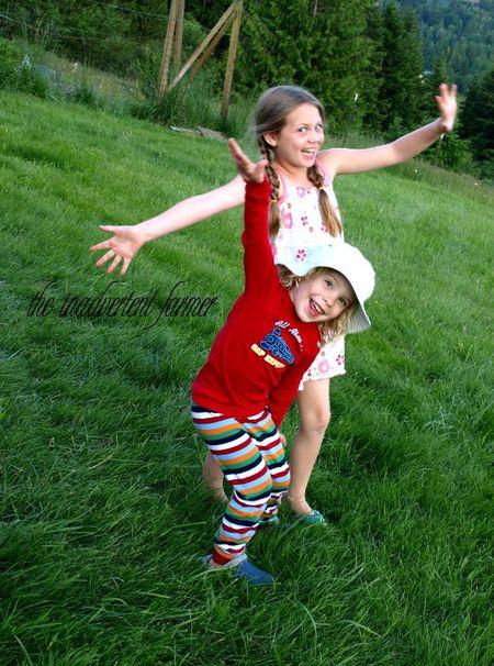 Kids pajamas garden silly evening