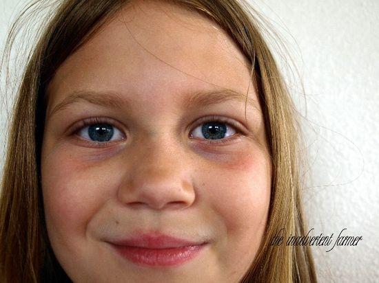 Girl self portrait