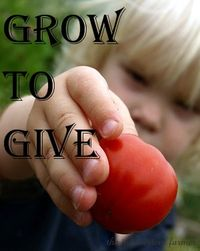 Grow to give button
