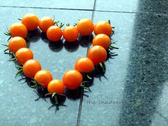 Tomato heart orange