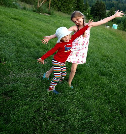 Kids pajamas silly grass girl boy